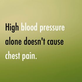 high blood pressure chest pain