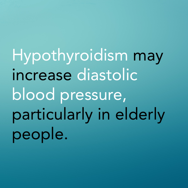 hypothyroidism high blood pressure
