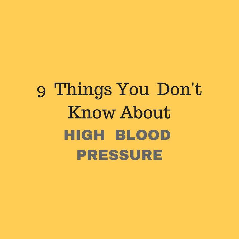 9 things high blood pressure